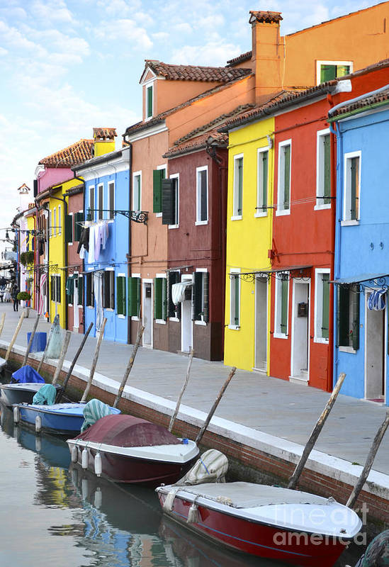 Burano Art Print featuring the photograph Burano Italy 2 by Rebecca Margraf