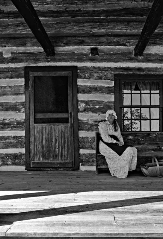Grey Roots Museum & Archives Art Print featuring the photograph Canadian Gothic Monochrome by Steve Harrington
