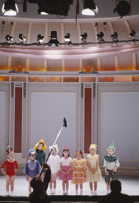 Film Art Print featuring the photograph Children On Stage by Shaun Higson