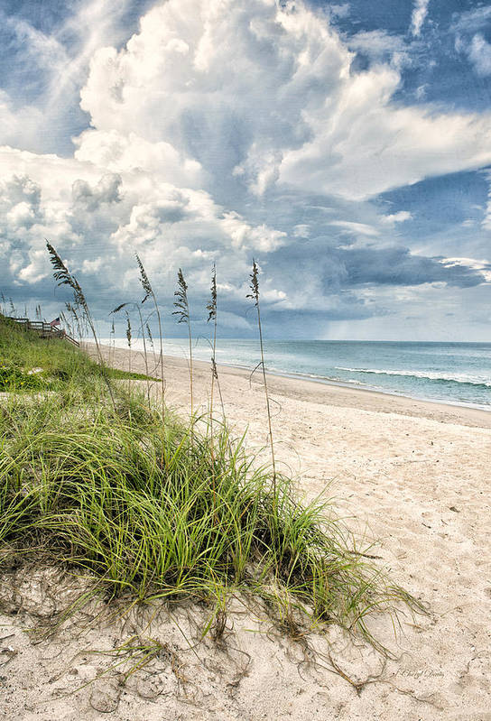 Clouds Print featuring the photograph Clouds Over The Ocean by Cheryl Davis
