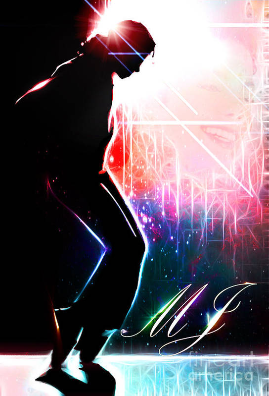 Micheal Jackson Print featuring the digital art Dancing In The Stars by The DigArtisT