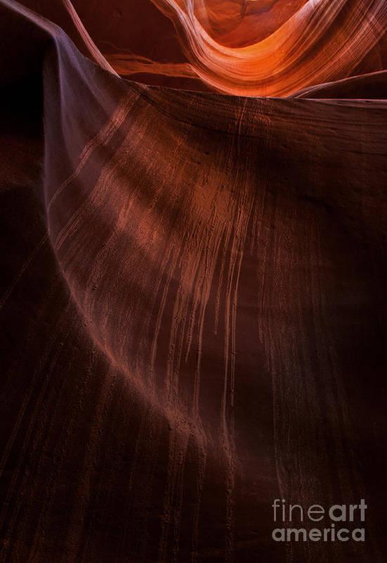 Antelope Canyon Art Print featuring the photograph Desert Rain by Mike Dawson