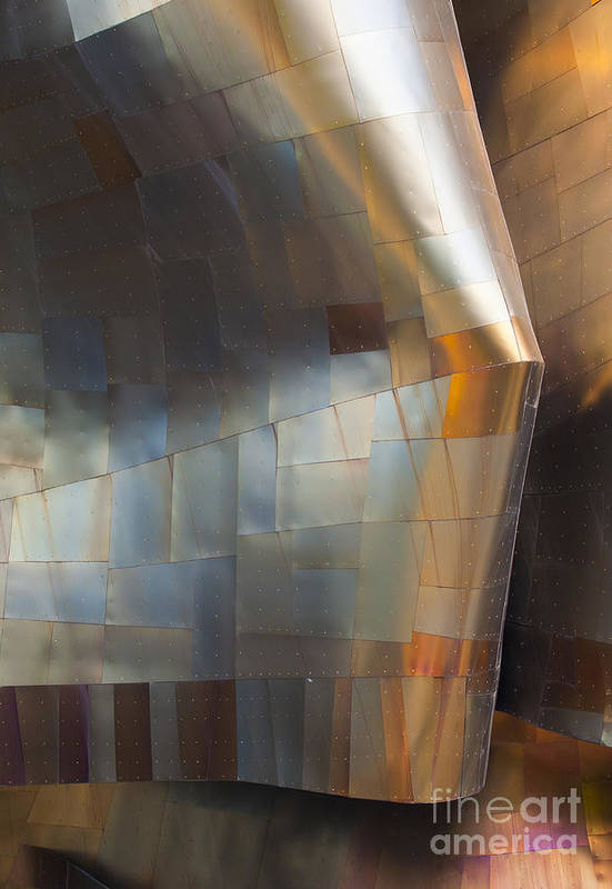 Emp Art Print featuring the photograph Emp Abstract Fold by Chris Dutton