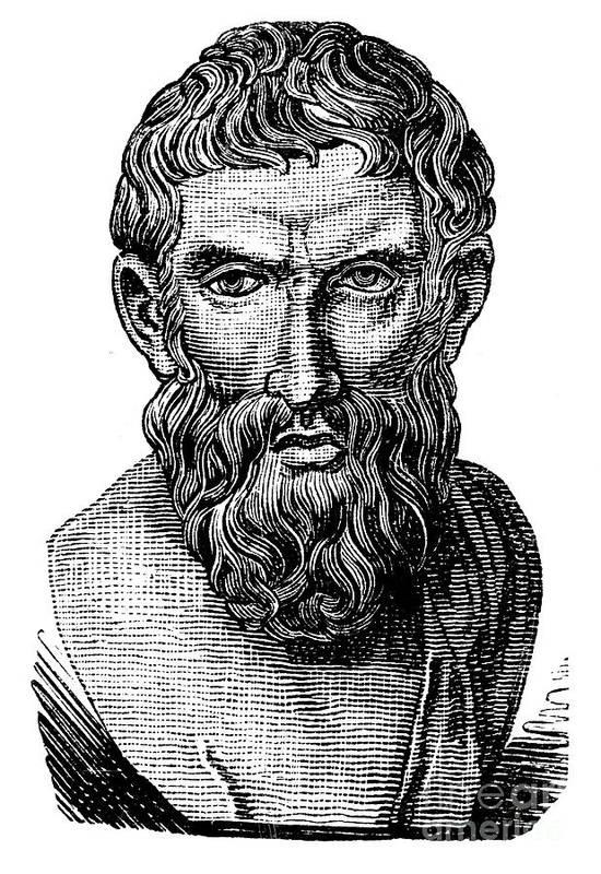 3rd Century B.c Art Print featuring the photograph Epicurus (343?-270 B.c.) by Granger