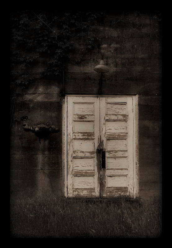Factory Art Print featuring the photograph Factory Door by Alan Skonieczny