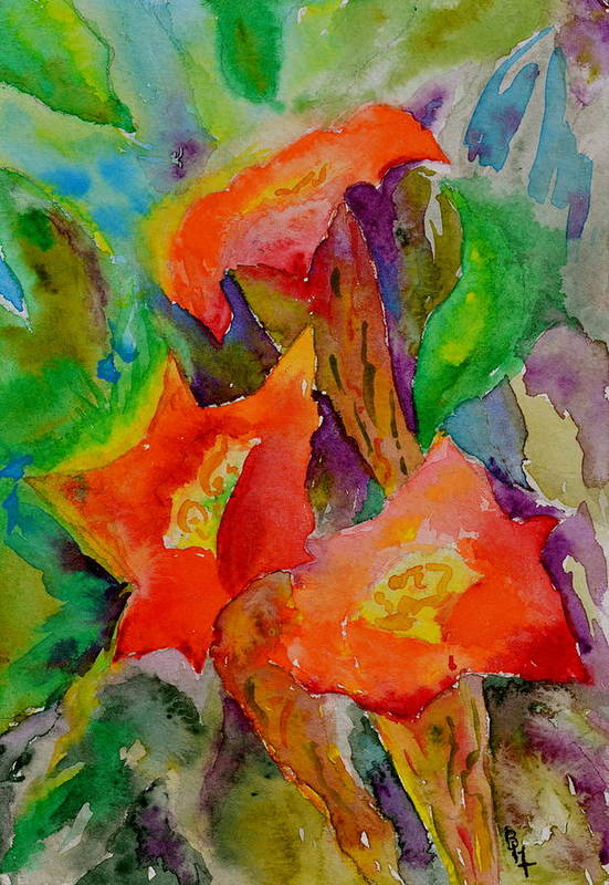 Watercolor Art Print featuring the painting Fanfare by Beverley Harper Tinsley