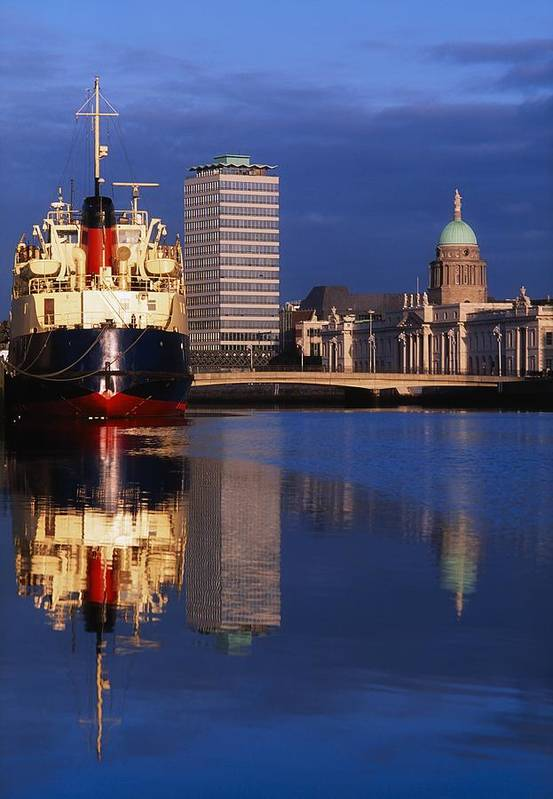 Boat Art Print featuring the photograph Guinness Boat, Custom House, Liberty by The Irish Image Collection