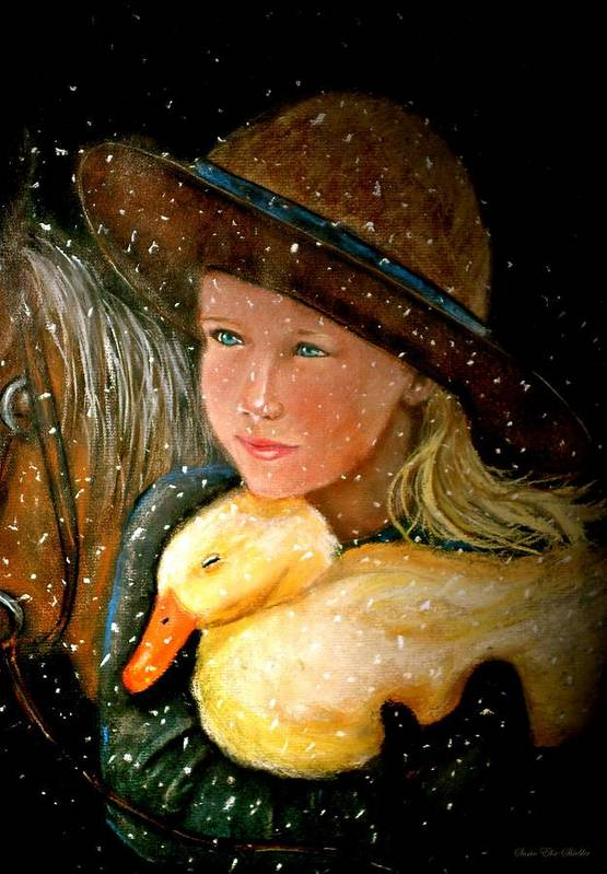 Snow Art Print featuring the painting Hayden by Susan Elise Shiebler