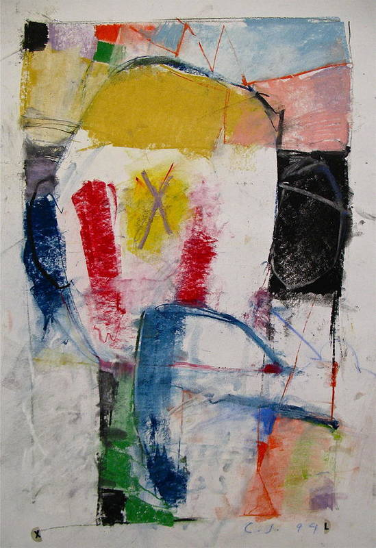 Abstract Art Print featuring the mixed media Inaugural Page by Cliff Spohn