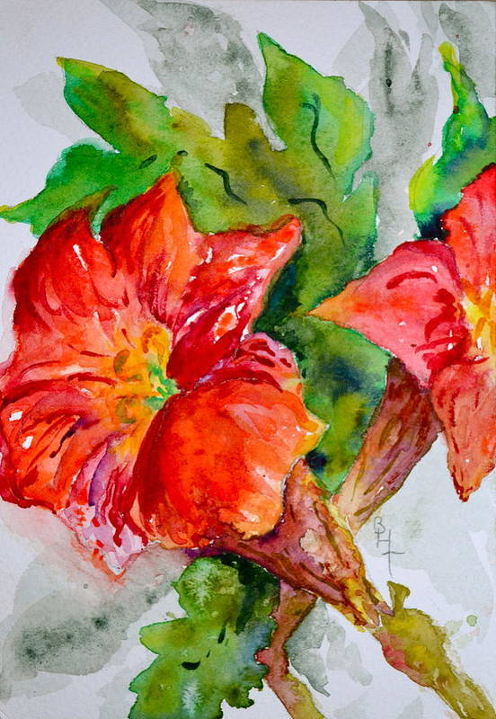 Watercolor Art Print featuring the painting Morning Revelry by Beverley Harper Tinsley