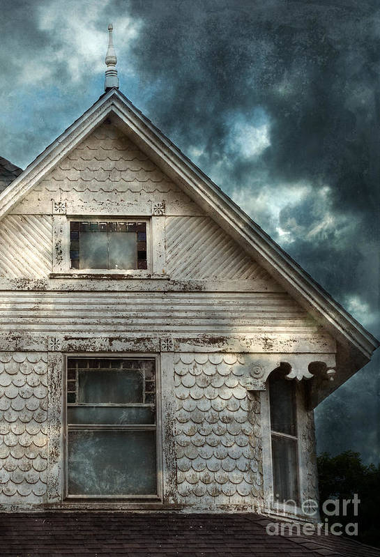 House Art Print featuring the photograph Old Victorian House Detail by Jill Battaglia