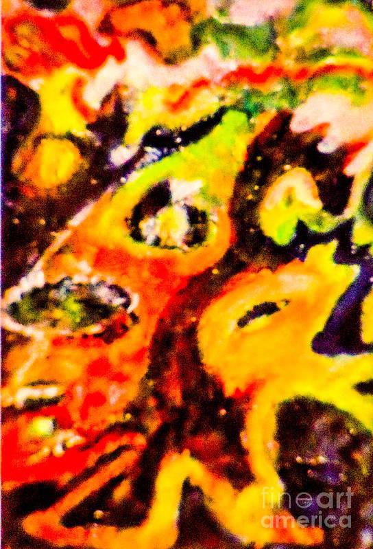 Outsider Artist. Art Print featuring the mixed media OMG by Bill Davis