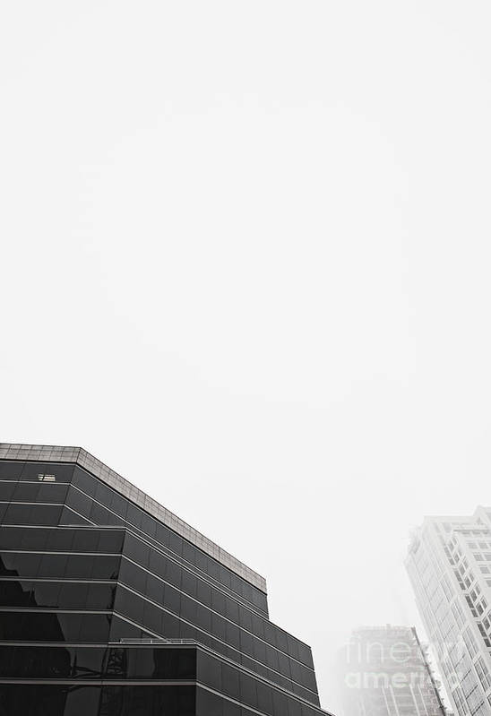Architectural Detail Art Print featuring the photograph Step Tiered Office Building With Dark Windows by Jetta Productions, Inc