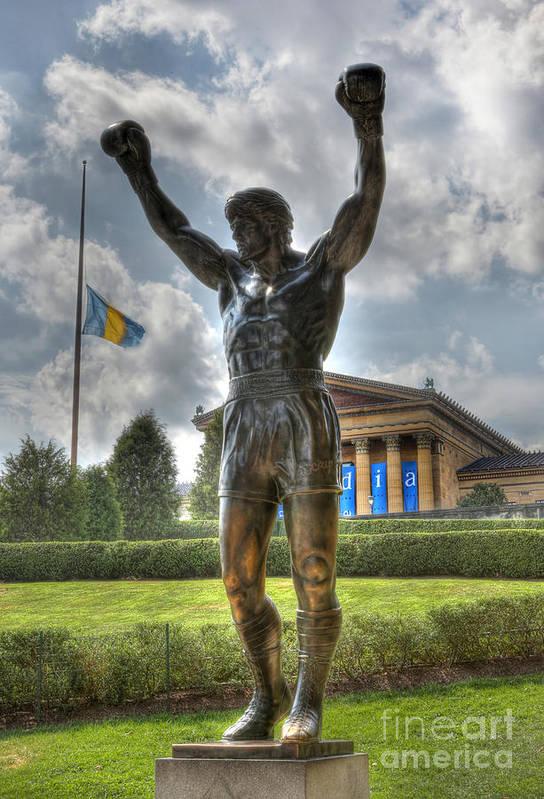 Arena Art Print featuring the photograph The Bronze Stallion - Rocky Balboa - Philadelphia - Pennsylvania - Rocky Steps by Lee Dos Santos