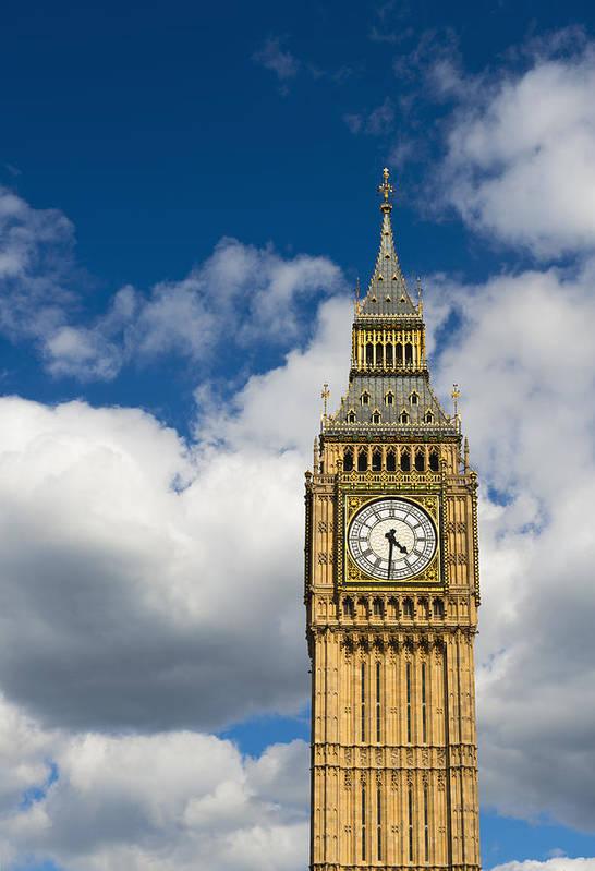 Vertical Art Print featuring the photograph Uk, England, London, Big Ben by Tetra Images