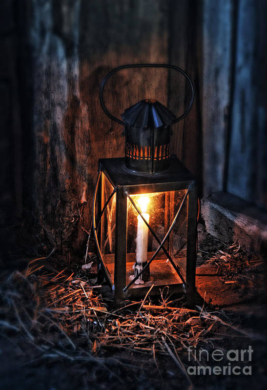 Lantern Art Print featuring the photograph Vintage Lantern In A Barn by Jill Battaglia