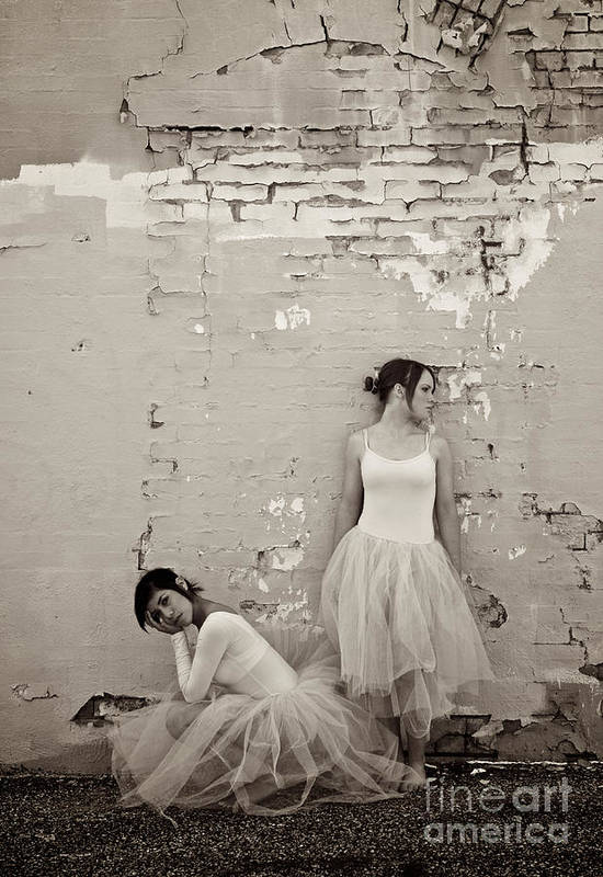 Dancers Art Print featuring the photograph Waiting Together by Sherry Davis