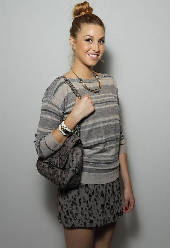 Whitney Port Art Print featuring the photograph Whitney Port In Attendance For Rebecca by Everett