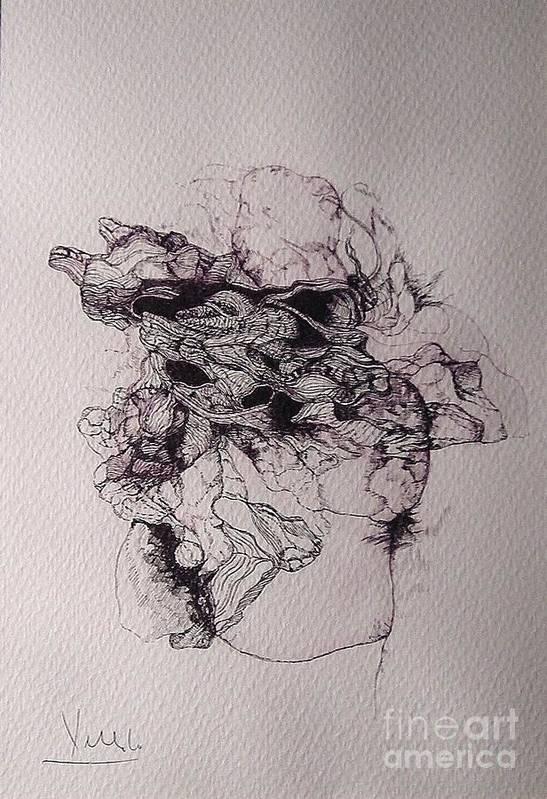Dibujo Art Print featuring the drawing Dibujo by Cesar Velasco