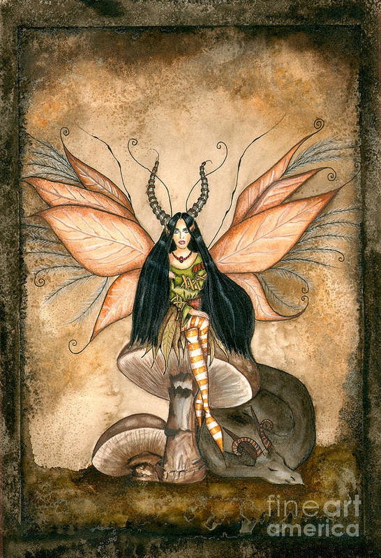 Faery Art Print featuring the painting Earth Faery by Alysa Fioretzi