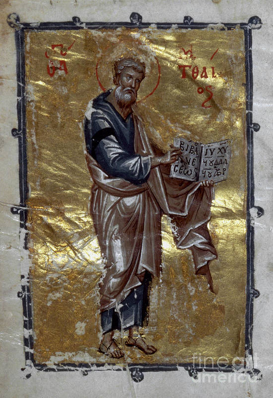 13th Century Print featuring the painting Saint Matthew by Granger
