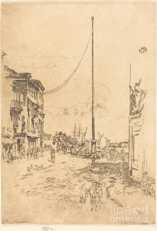 Art Print featuring the drawing The Little Mast by James Mcneill Whistler