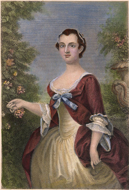 1757 Art Print featuring the photograph Martha Washington by Granger