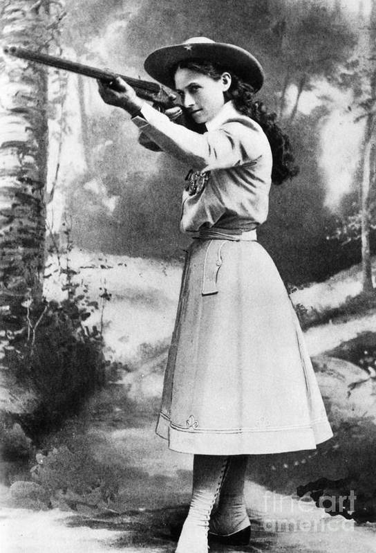 19th Century Art Print featuring the photograph Annie Oakley (1860-1926) by Granger