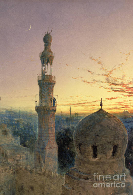 Call Art Print featuring the painting A Call To Prayer by Henry Stanier