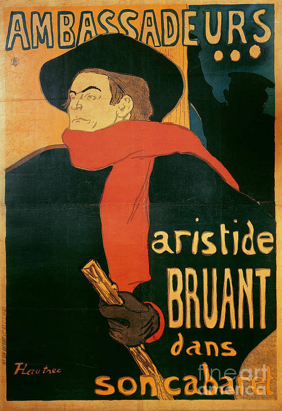 Henri De Toulouse-lautrec Art Print featuring the painting Ambassadeurs by Henri de Toulouse-Lautrec