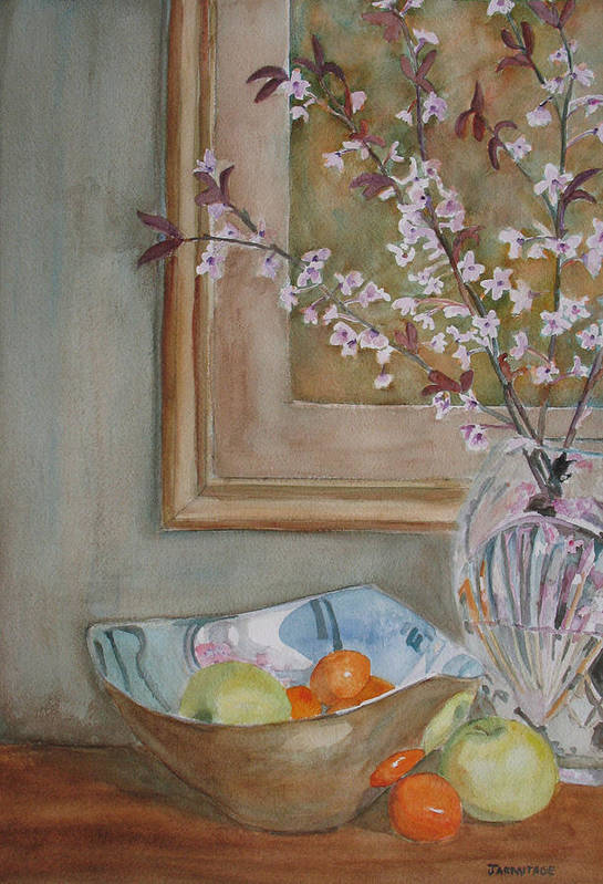 Apples Art Print featuring the painting Apples And Oranges by Jenny Armitage