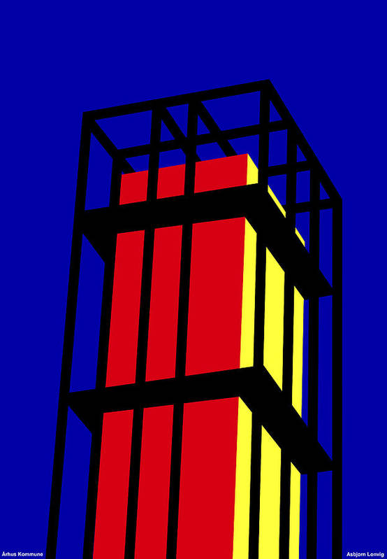 Arne Jacobseb Tower Art Print featuring the digital art Arne Jacobseb Tower by Asbjorn Lonvig
