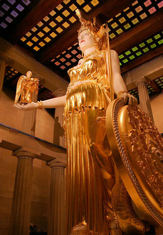 Athena Art Print featuring the photograph Athena With Nike by Kristin Elmquist