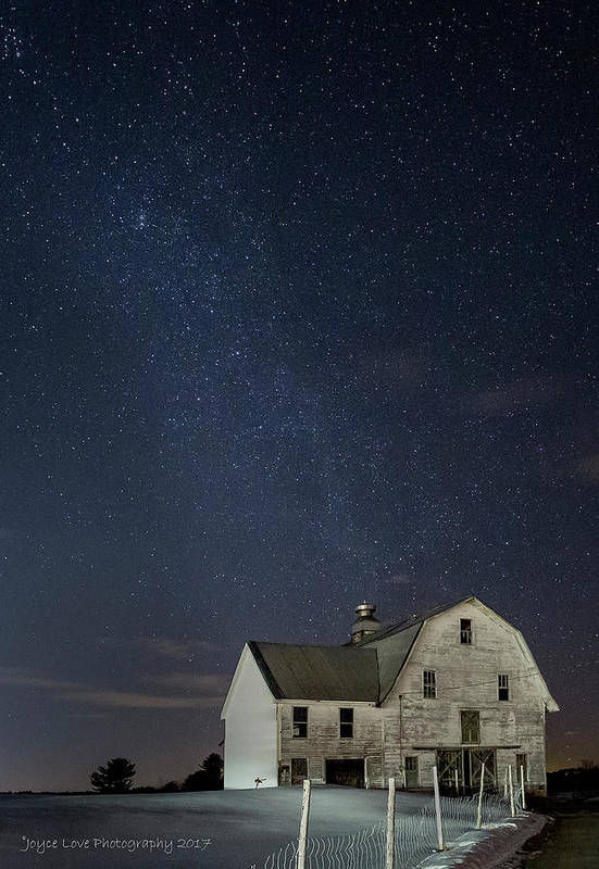 Landscape Art Print featuring the photograph Barn With Milky Way by Joyce Love