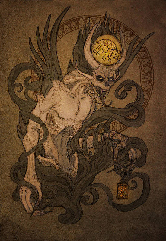 Demons Of Goetia Bifrons Art Print By Cambion Art