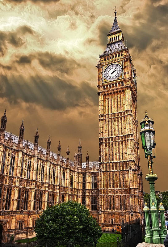 Big Ben Print featuring the photograph Big Ben's House by Meirion Matthias