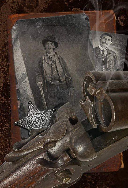 Billy The Kid Art Print featuring the photograph Billy And Pat by Robert Hudnall
