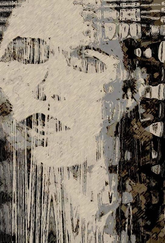 Art Print featuring the digital art Blinded by LeeAnn Alexander