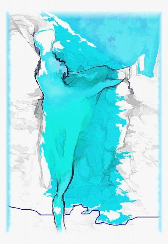 Dance Art Print featuring the photograph Blue Dancer by Mary Morawska