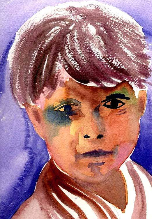 Boy Art Print featuring the painting Boy by Janet Doggett