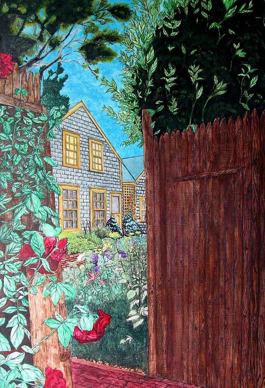Cottage Art Print featuring the painting Cape Cod Cottage by Joshua Armstrong