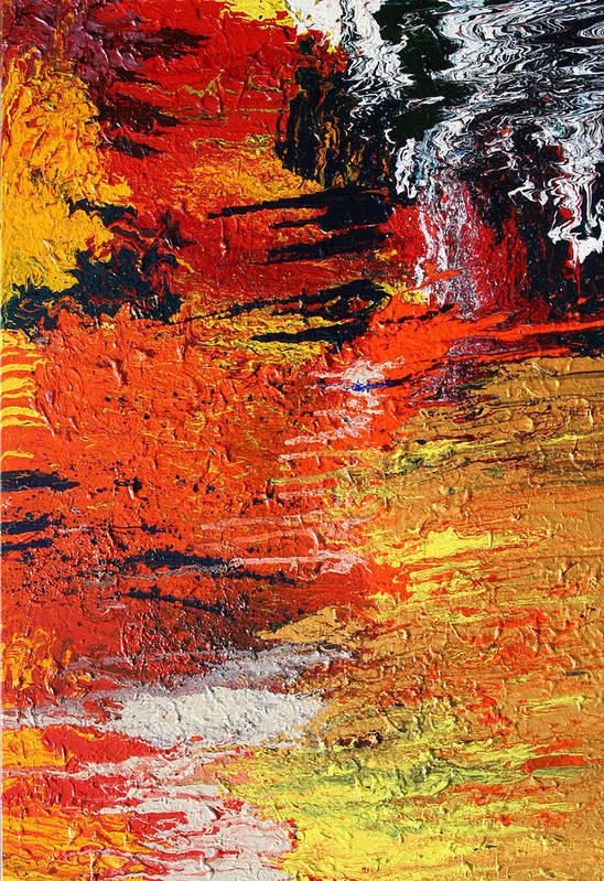 Fusionart Art Print featuring the painting Chasm by Ralph White