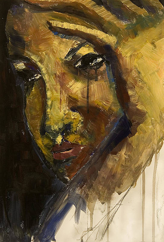 Crying Art Print featuring the painting Crying 2 by Michelle Key