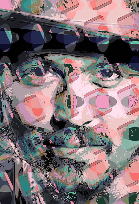 Art Print featuring the digital art Depp1 by Scott Davis