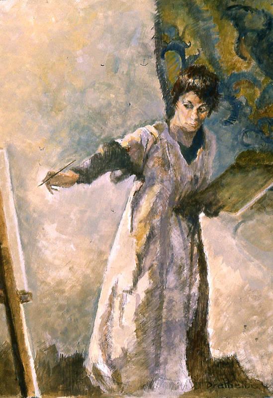 Painting Art Print featuring the painting Focus by Ellen Dreibelbis