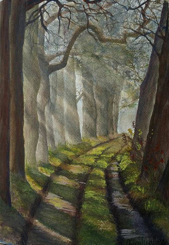 Art Art Print featuring the painting Forest Pathway by Cheryl Wallace