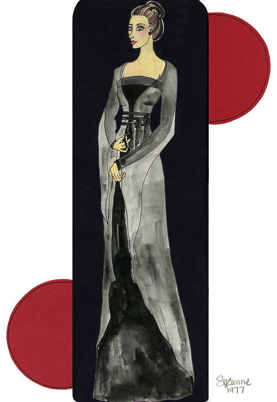 Fashion Print featuring the mixed media Genevieve by Suzanne Blender