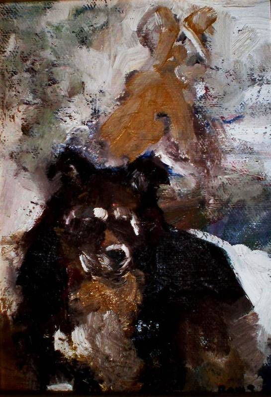 Dog Figurative Impressionistic Art Print featuring the painting Gypsy Dog by Renee Rowe