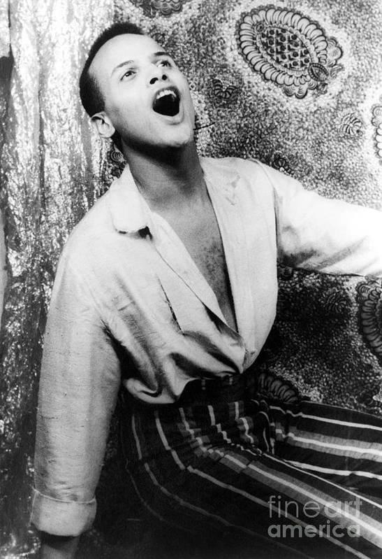 1954 Art Print featuring the photograph Harry Belafonte (1927- ) by Granger