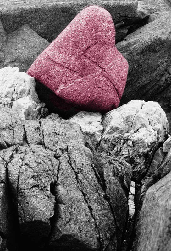 Rocks Art Print featuring the photograph Heartrock by Keith Campagna
